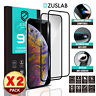 2 X iPhone 11 Pro Max ZUSLAB Full Tempered Glass Screen Protector for Apple