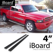 Running Board Side Step 4in Silver Fit Dodge Ram 1500/2500/3500 Club Cab 94-01