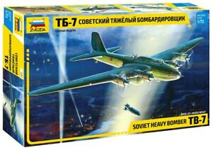 ZVEZDA SOVIET HEAVY BOMBER TB 7  1:72 SCALE ITEM NR. 7291  NEW