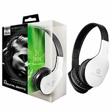 MENTAL BEATS DJ SKIN HEADPHONES WHITE NOISE ISOLATION #00695 W/MIC NIB FREE SHPG