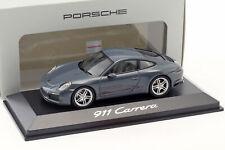 Porsche 911 (991 II) carrera Coupe año de fabricación 2016 grafito azul 1:43 Herpa