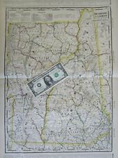 Nh Vt 1910 New Hampshire, Vermont Electric Interurban + Steam Railroad Map