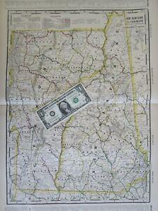 NH VT 1910 NEW HAMPSHIRE, VERMONT Electric INTERURBAN + STEAM RAILROAD Map