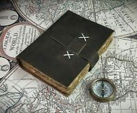 Vintage Leather Journal Notebook 100% Handmade Unique Antique Deckle Edge Paper