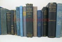 Lot 5 of BLUE / Shades of blue Old Vintage Antique Rare Hardcover Random