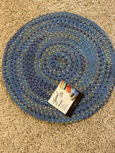 FIESTA Reversible Placemat 15 in Round Lapis Blue NWT