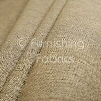 Soft Quality Flat Basket Weave Brown Chenille Plain Upholstery Furnishing Fabric