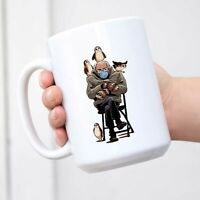Coffee Bernie-Sanders with Birds Mug with Handle Ceramic Novelty Mugs - Women