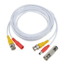 25ft BNC Video Power Wire Cord for Swann Night Owl CCTV Cameras Cable White