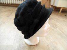 SEEBERGER schöner Woll Walk Hut schwarz 100 % Schurwolle  NEU