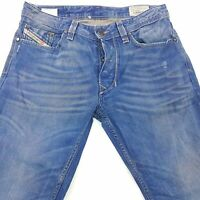 Diesel LARKEE Mens Jeans W30 L31 Blue Regular Fit Straight Mid Rise