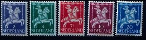 Netherlands. 1946 full set of 5 semi-postal stamps, mint lightly hinged