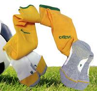Neu Nike Celtic Fußballsocken Spieler Ausgabe Gelb Erwachsene 7.5 - 11
