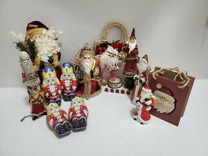 Lot Of Random Santa Claus Christmas Decorations