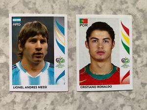 Panini World Cup 2006 Ronaldo & Messi Rookie Stickers