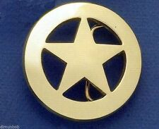 Ranger Star Badge Belt Buckle (Brass)