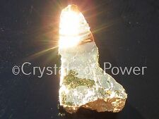 ONE POWERFUL PURE 24KT GOLD AURA PHENAKITE / PHENACITE CRYSTAL! BRAZIL! MED