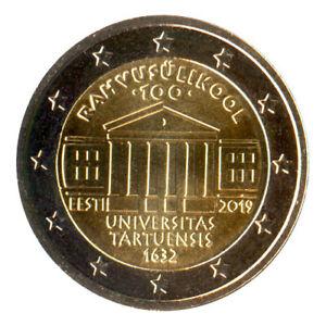 2 Euro Münze Estland 2019 Universität Tartu Gedenkmünze Sondermünze