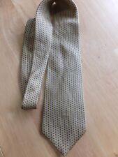 Ralph Lauren Men's Tie 100% Silk FINISHED. Yellow WITH blue/w Geometric Pattern