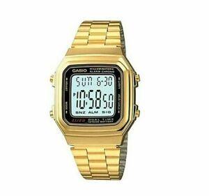 Casio a178wga-1adf Vintage Watch Digital Dual Time Watch Laminate Unisex Cool