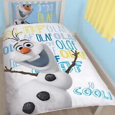 Disney Frozen OLAF Single Panel Duvet Cover Bed Set New Gift