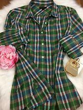 J.Crew Women Long-Sleeve Shirt Size 8 Cotton Women's Clothing / Tops