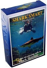 Shark Smart (Stay Safe with Sharks) set of 52 playing cards + Jokers (sts)