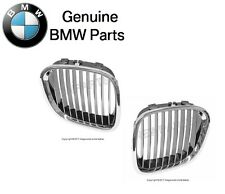 For BMW E36 Z3 M Coupe Roadster Chrome Kidney Grille Set Front L+R Genuine New
