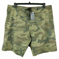 Brooklyn Cloth Men's Size 36-38 Camouflage 4 Way Stretch Board Shorts Quick Dry