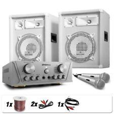 DJ PA ANLAGE 2 LAUTSPRECHER BOX MIKROFON VERSTÄRKER AMP