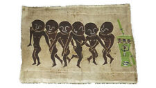 "Vtg African Wax Batik Cloth Painting Tribal Artwork Tapestry 42""x29"""