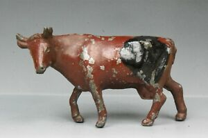 RARE PHILLIP SEGAL LEAD FARM COW with TURNED HEAD (Brown Variant) ...!!
