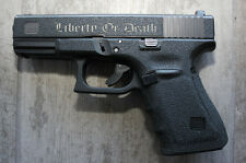 Rubber Textured Hand Gun Grip Tape LIBERTY OR DEATH fits Gen 4 Glock 19 23 25 32