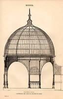 1868 Stampa ~Cupola~ Esposizione 1862 Verticale Sezione