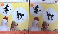 Martha Stewart Halloween Cat Witch Silhouette Honeycomb 2 Packages NEW