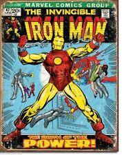 Vintage Replica Tin Metal Sign Iron man Comic story book cartoon magazine 1969