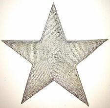 5 Inch Silver Star Iron On Patch Patches - As Many As You Want: $2.69 Ship - 46