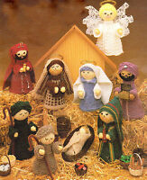 Nativity Knitting Pattern  9 Figures Easy to Knit !