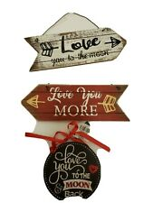 Lot Of 3 New Valentine Themed Wall Decor