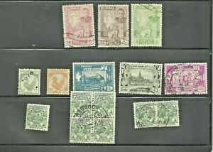 BURMA - 1948/1952 -  INDEPENDENCE & ANNIVERSARY - GROUP of 11 - used