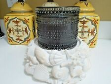 HomeWorx by Harry Slatkin Seashell Pedestal Candle Holder Coastal Farmhouse Rare