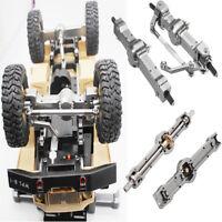 Titanium Color Metal Front +Rear Bridge Axle Set für WPL HengLong 1/16 Military