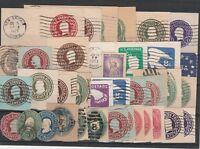 FRANCOBOLLI - 1887 /1973 USA/STATI UNITI LOTTO RITAGLI DI INTERI D/6057