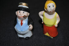 Bringing up Father Maggie & Jiggs Salt & Pepper Set A - (1930s) ITB WH