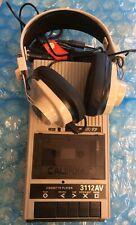 New Nos Vintage Califone Portable Cassette Tape Player 3112Av with Headphones