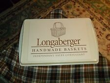 Longaberger Baskets Sales Consultant Magnetic Sign On Metal Tray Wall Hanger