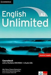 English Unlimited A2 - Elementary. Coursebook with e-Por... | Buch | Zustand gut