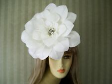 Large White Dahlia Fascinator Wedding Fascinator, Kentucky Derby Hat, Easter