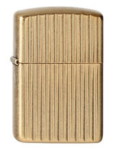 Zippo Lighter ⁕ Armor Case Tumbled Brass ⁕ 60001655 Neu New OVP ⁕ A2027