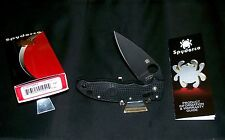 "Spyderco Manix 2 Knife USA ""C101PBBK2"" Ball Bearing Lock 4-5/8"" Orig. Packaging"